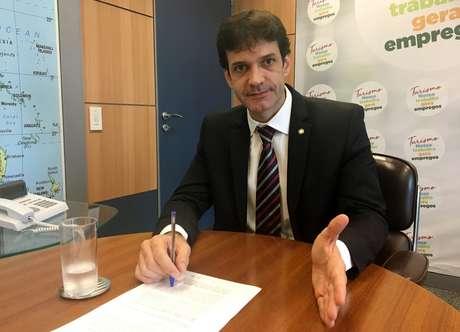 Ministro do Turismo, Marcelo Álvaro Antônio, durante entrevista à Reutersem Brasília 16/01/2019 REUTERS/Jake Spring