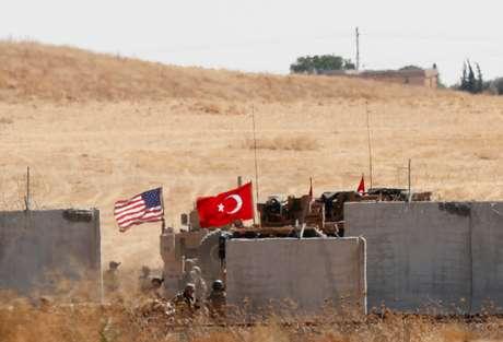 Forças turcas e norte-americanas voltam de patrula conjunta no norte da Síria 08/09/2019 REUTERS/Murad Sezer
