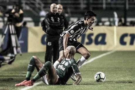 No primeiro turno, o Santos foi goleado pelo Palmeiras no Pacaembu (Foto: Ivan Storti/SFC)