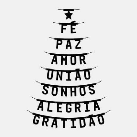17. Árvore de Natal na parede feita com adesivos e palavras. Fonte: Capitão Zeferino