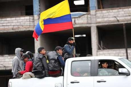Protesto contra medidas econômicas do governo equatoriano em Quito