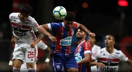 Hudson e Igor Vinícius foram titulares no último jogo entre as equipes (Foto: Erico Leonan/SPFC)