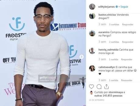 Perfil oficial do atorTyler James Williams no Instagram.