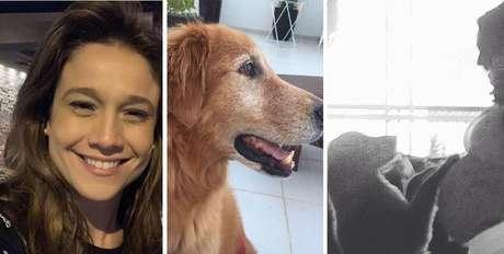 Fernanda Gentil tem uma cadela de 13 anos que acompanhou o crescimento de sua família.