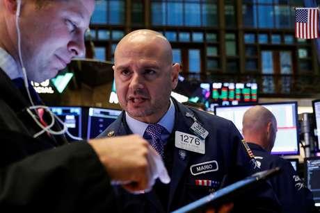 Operadores na Bolsa de Valores de Nova York  09/10/2019 REUTERS/Brendan McDermid