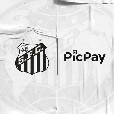 Empresa PicPay terá marca presente na camisa do Santos por duas rodadas(Imagem: Divulgação)