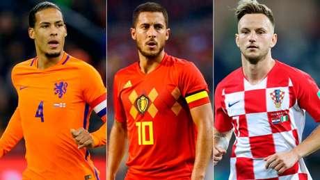 Van Dijk, Hazard e Rakitic são os principais jogadores de suas seleções (Foto: Divulgação)