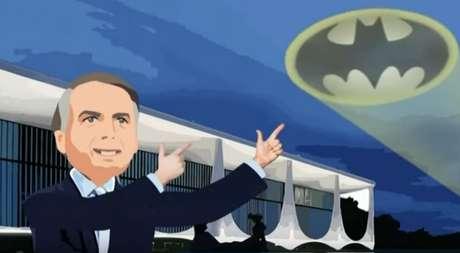 Antes de se transformar em Coringa, Bolsonaro dá 'tirinhos' no Bat-sinal