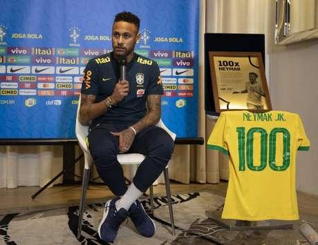 Neymar atuará centralizado no amistoso contra Senegal (Foto: Lucas Figueiredo/CBF)