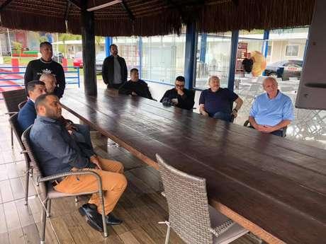 Presidente do Santos visita o Audax (Reprodução)