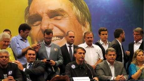 Bolsonaro em coletiva de imprensa quando era candidato, em 2018; especialista destaca que campanha do PSL foi marcada por 'personalismo' em torno dele