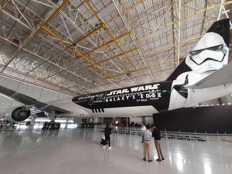 O Boeing 777 ficará pintado com a temática por 3 anos e fará roteiros incluindo Nova York, Londres e Frankfurt