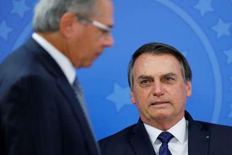 Presidente Jair Bolsonaro e ministro Paulo Guedes participam de fórum em São Paulo 16/07/2019 REUTERS/Adriano Machado