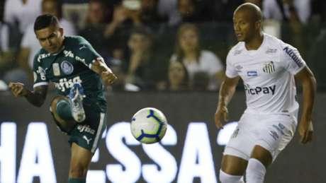 Palmeiras teve atuação ruim contra o Santos na Vila Belmiro (Foto: Ricardo Moreira/Fotoarena/Lancepress!)