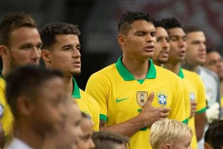 Thiago Silva justificou o empate (Foto: Lucas Figueiredo/CBF)