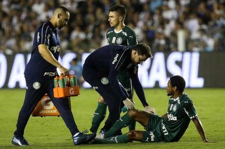 Foi constatada lesão no músculo posterior da coxa direita do atacante Luiz Adriano (Agência Palmeiras/Divulgação)