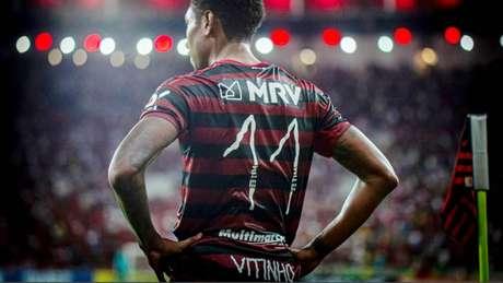 Bela ação do Rubro-Negro em homenagem ao Dia das Crianças (Foto: Marcelo Cortes / Flamengo)