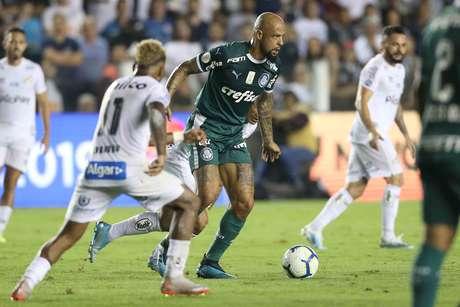 Felipe Melo, do Palmeiras, em partida contra o Santos
