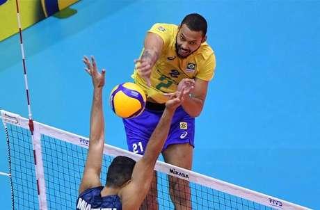 Alan foi um dos destaques da Seleção Brasileira (Foto: Divulgação/FIVB)