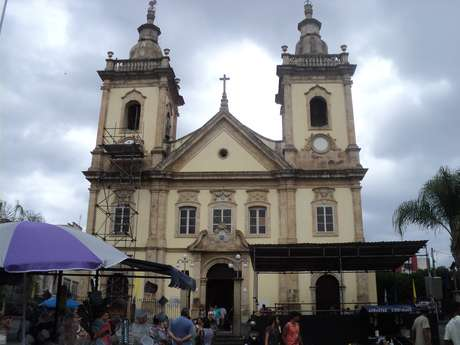 Antiga Igreja de Aparecida: dom Pedro teria visitado capela onde a santa estava exposta em 1822, em uma viagem entre o Rio de Janeiro e São Paulo que acabaria terminando com a declaração da Independência do Brasil