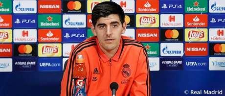 Courtois disse que esse rumor é um desrespeito com aqueles que realmente sofrem com ansiedade (Foto: Real Madrid)