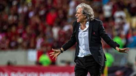 Jesus à beira do campo no duelo contra o Galo, no Maracanã. O Flamengo segue voando (Marcelo Cortes / Flamengo)