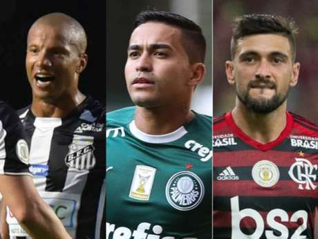 Sánchez, Dudu e Arrascaeta são alguns dos destaques do Brasileiro (Montagem LANCE!)