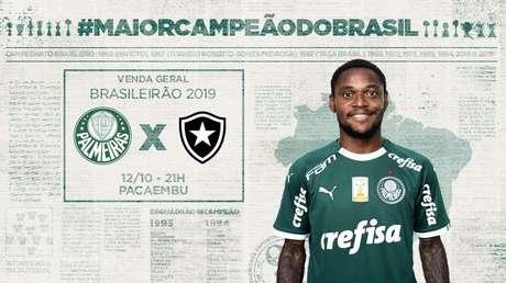 Jogo entre Palmeiras e Botafogo é válido pela 25ª rodada do Brasileirão (Foto: Reprodução)