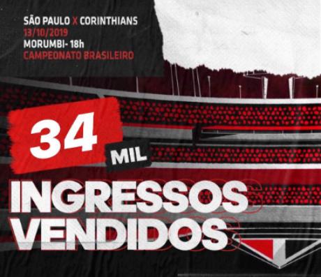 Clássico paulista é válido pela 25ª rodada do Campeonato Brasileiro (Foto: Reprodução)
