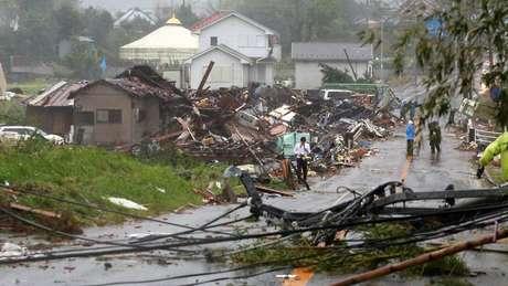 Casas desmoronaram em Chiba