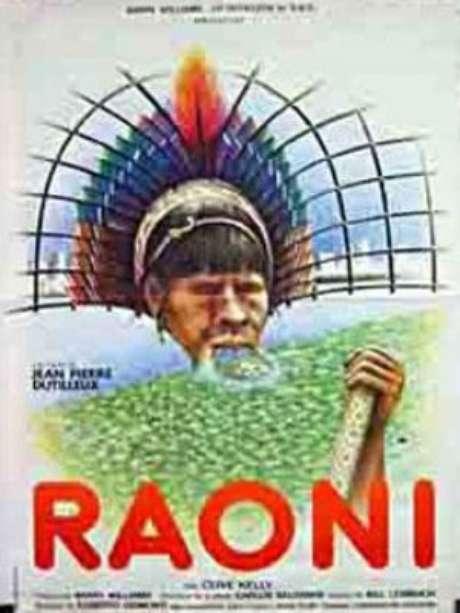 """Cartaz do filme """"Raoni"""", indicado ao Oscar e exibido em Cannes"""