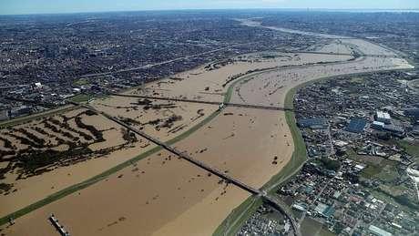 Rio Arakawa inundou