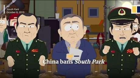 As buscas por South Park no Weibo, o equivalente chinês do Twitter, e em outros sites não mostrava nenhum resultado