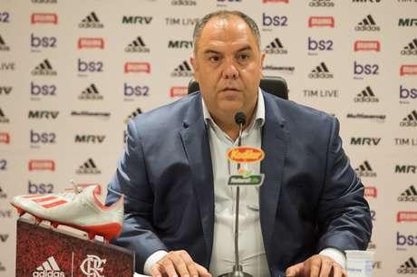 Marcos Braz ficou revoltado com a não marcação de um pênalti a favor do Flamengo - Alexandre Vidal/Flamengo
