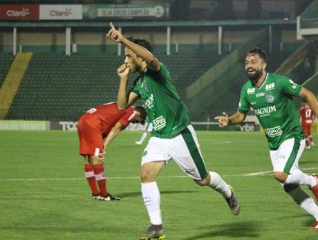 O Guarani bateu o CRB por 1 a 0 (Foto: Reprodução/Twitter)