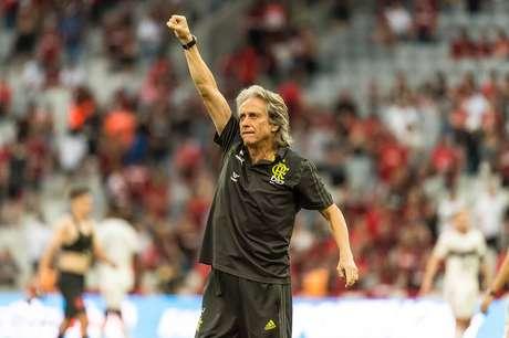 Jorge Jesus não gostou da arbitragem do jogo deste final de semana (Foto: Alexandre Vidal/Flamengo)