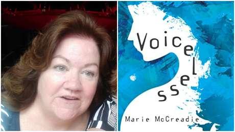 """Marie McCreadie conta sua história no livro """"Voiceless"""" (sem voz)."""