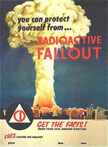 Alerta contra a radioatividade.