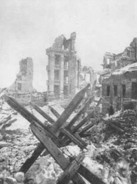 Stalingrado em ruínas.