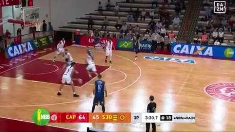 Paulistano vence o São José pelo NBB - Reprodução/DAZN