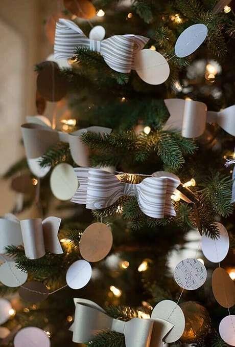 42. Laços modernos para o kit enfeites para árvore de Natal – Foto: OBSiGeN