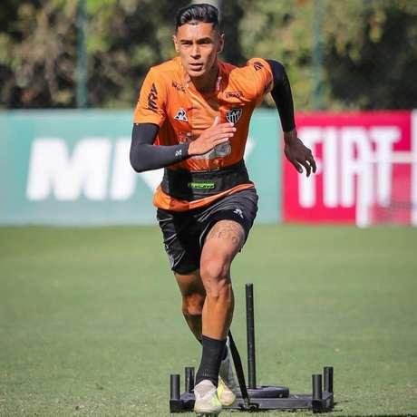 Vitor Mendes está emprestado pelo Santos ao Atlético-MG (Reprodução)