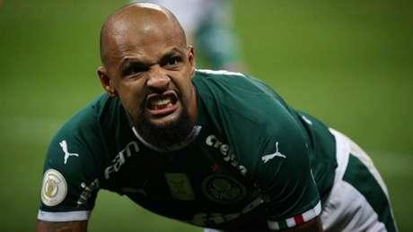 Felipe Melo evitou empate amargo para o Palmeiras (Cesar Greco/Palmeiras)