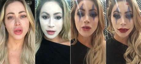Carol Sertório mostrou o processo de make up em vídeo no Instagram