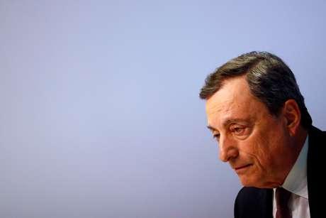Presidente do Banco Central Europeu, Mario Draghi 10/04/2019 REUTERS/Kai Pfaffenbach