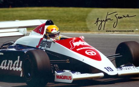 A primeira vitória de Ayrton Senna foi em 1984 (Foto: Divulgação)