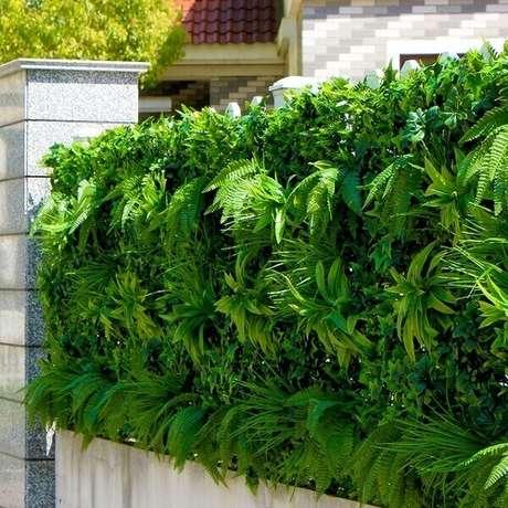 5. Fachada da casa formada com jardim vertical artificial. Fonte: Pinterest