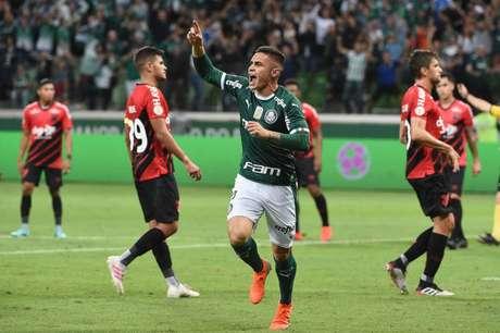 Palmeiras venceu o Athletico-PR no primeiro turno do Brasileirão 2019 (Foto :Sergio Barzaghi/Gazeta Press)