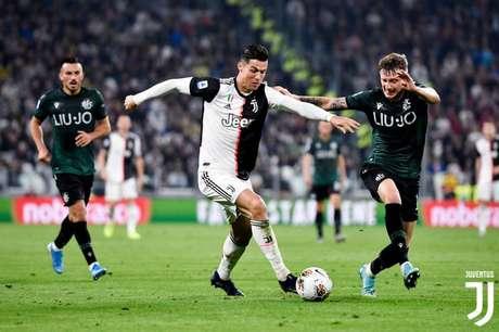Cristiano Ronaldo fez o primeiro gol da Juventus (Reprodução)