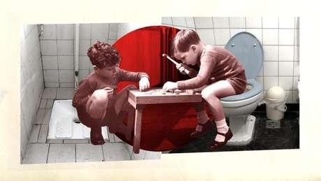 Sentar em vez de se agachar pode tornar o tempo no banheiro mais longo – o que os americanos transformaram em uma forma de lazer